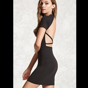 NWT F21 strappy backless bodycon t-shirt dress